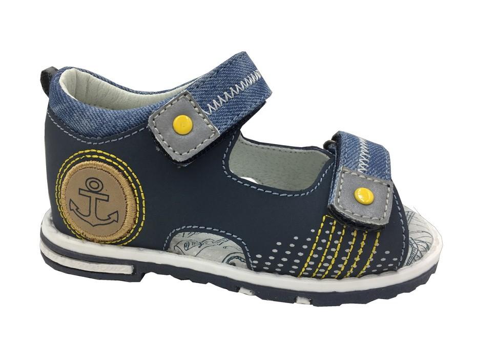 Синие босоножки B&G для мальчика LD180-601