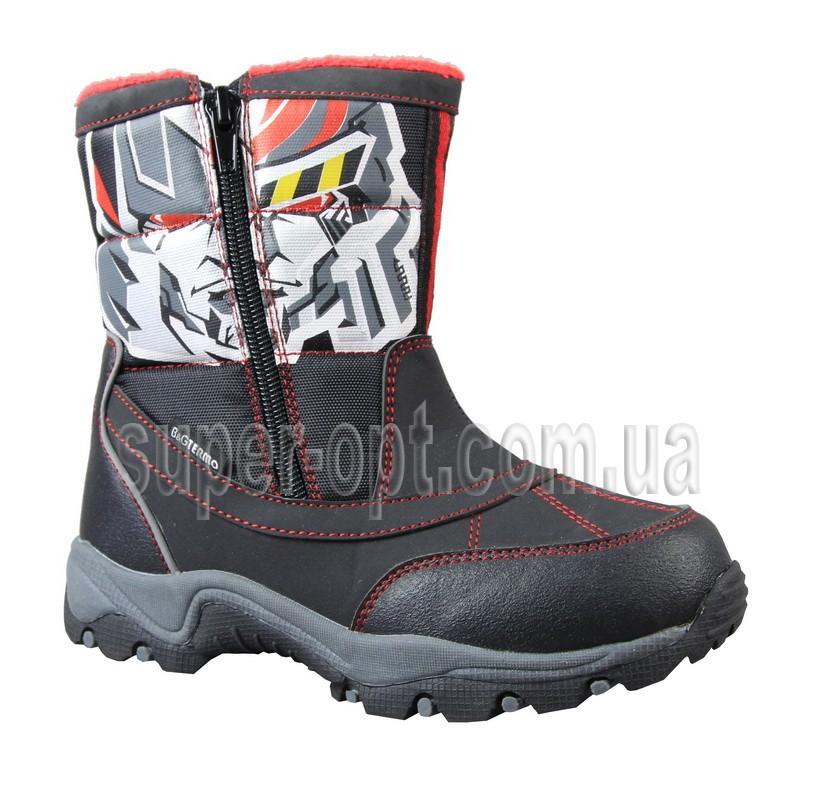 Черные термо-ботинки B&G для мальчика R161-3201