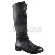 Черные сапоги для девочки B&G KK713-298B