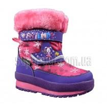 Малиновые термо-ботинки B&G для девочки R161-3207
