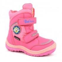 Розовые  термо-ботинки B&G для девочки R171-6023