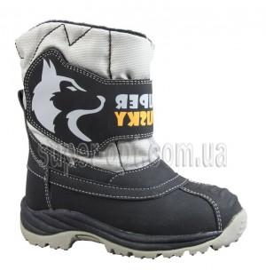 Черно-серые термо-ботинки B&G для мальчика R161-3198-2