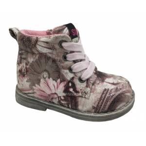 Розовые ботинки B&G для девочки LD180-402