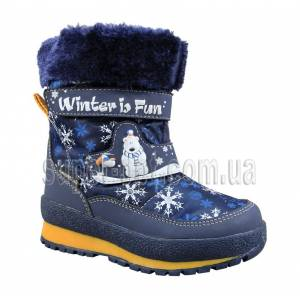 Синие термо-ботинки B&G для мальчика R161-3208