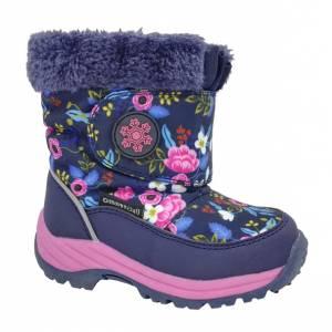 Сине-розовые термо ботинки B&G для девочки R181-616