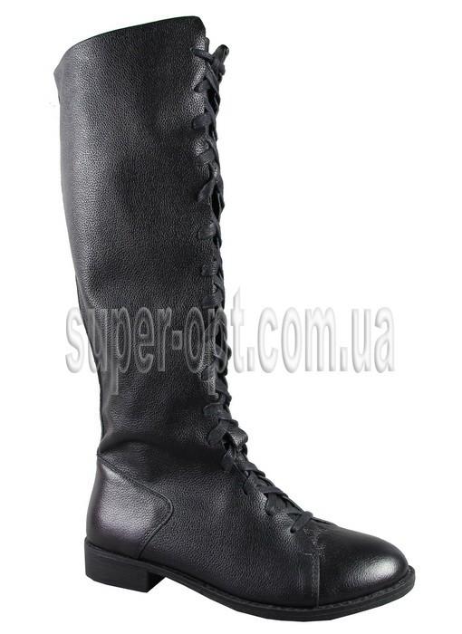 Чорні чоботи для дівчинки B&G KK713-298B