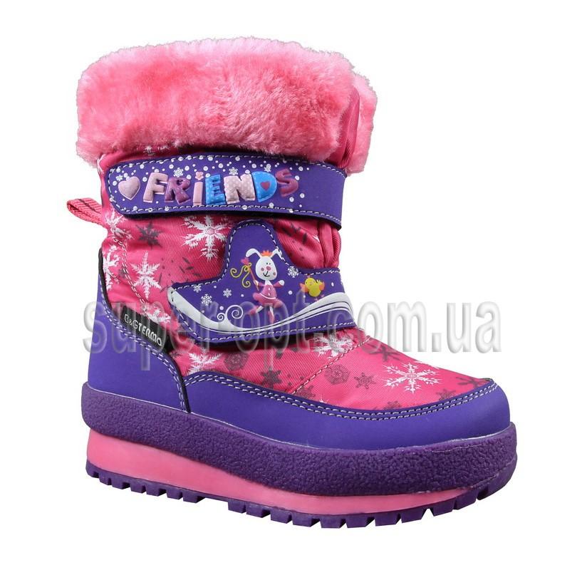 Малинові термо-черевики B&G для дівчинки R161-3207
