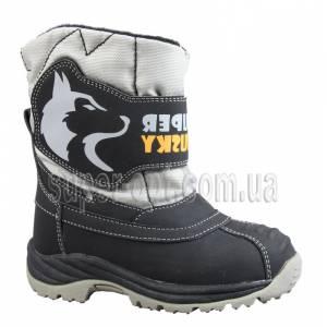 Чорно-сірі термо-черевики B&G для хлопчика R161-3198-1